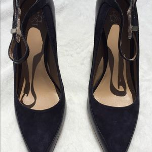 Like new Ann Taylor blue smooth leather and suede